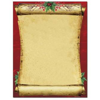 Christmas Scroll Letterhead - 25 pack
