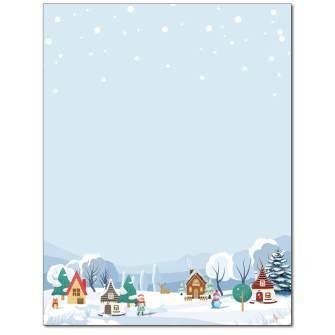 Christmas Village Letterhead - 25 pack