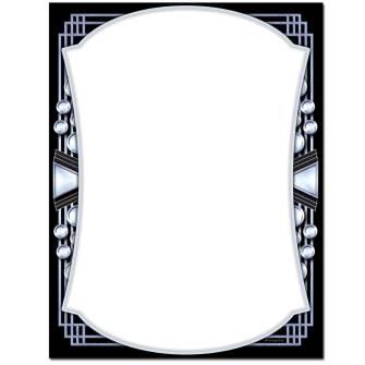 Chrome Deco Letterhead - 100 pack