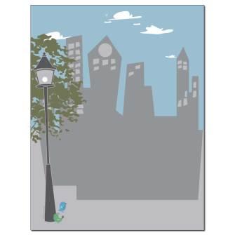City Skyline Letterhead - 100 pack
