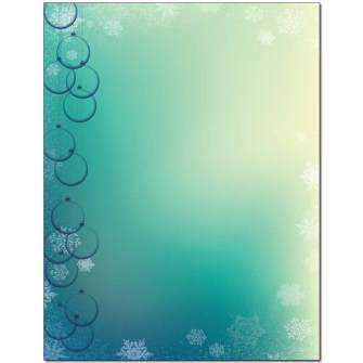 Clear Ornaments Letterhead - 100 pack