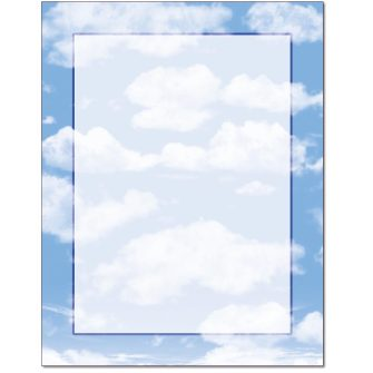 Clouds Border Paper