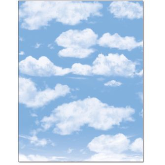 Clouds Letterhead - 25 pack