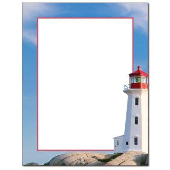 Coastal Lighthouse Letterhead - 100 pack