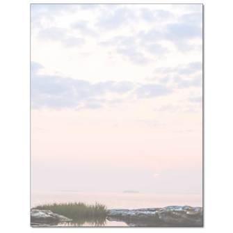 Coastal Sunrise Letterhead - 25 pack