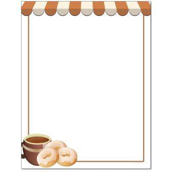 Coffee & Doughnuts Letterhead - 100 pack