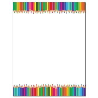 Colorful Pencils Letterhead - 25 pack