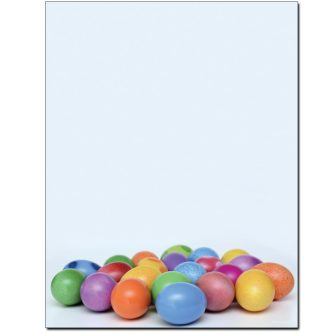 Colorful Easter Eggs Letterhead - 100 pack