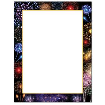 Colorful Fireworks Letterhead - 25 pack