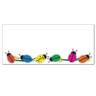 Colorful Ladybugs Envelopes - 25 Pack