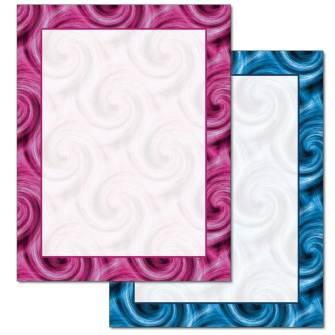 Colorful Swirls Letterhead - 25 pack