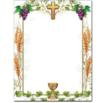 Communion Letterhead - 25 pack