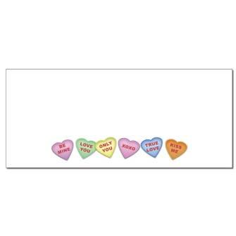 Conversation Hearts Envelopes - 50 Pack
