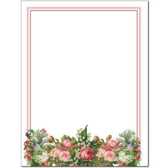 Cottage Garden Letterhead - 25 pack
