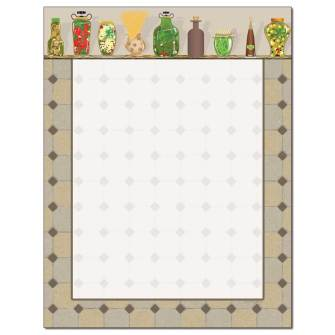Country Kitchen Letterhead - 25 pack