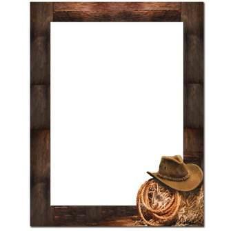 Cowboy Letterhead - 25 pack