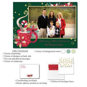 Cozy Holiday Personalized Photo Flat Cards