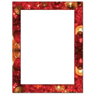 Crackled Ornaments Letterhead - 25 pack
