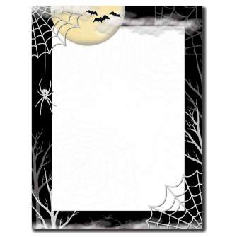 Creepy Web Letterhead  - 100 pack