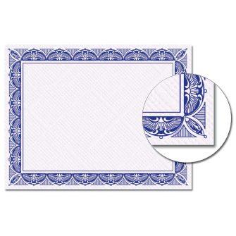 Crown Blue Certificate - 100 Pack