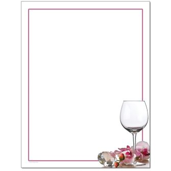 Crystal & Orchids Letterhead - 25 pack