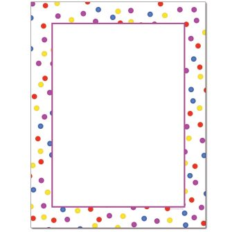 Fun Dots Letterhead - 100 pack