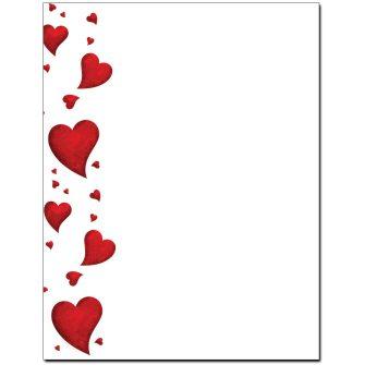 Dancing Hearts Letterhead - 25 pack