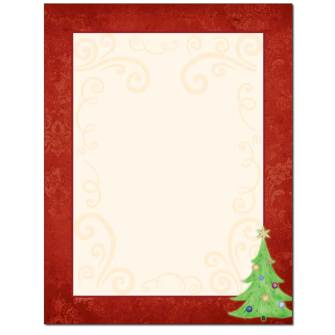 Decorated Damask Letterhead - 25 pack