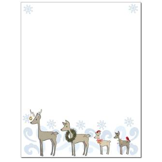 Deer Family Letterhead - 25 pack