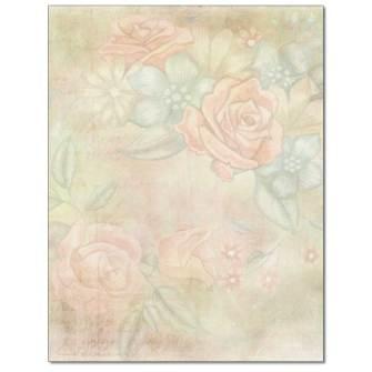 Delicate Roses Letterhead - 25 pack