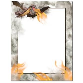 Dragon Fire Letterhead - 25 pack