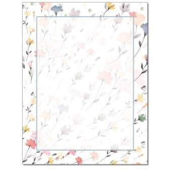 Drifting Flowers Letterhead - 100 pack