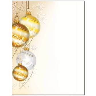 Elegant Ornaments Letterhead - 100 pack