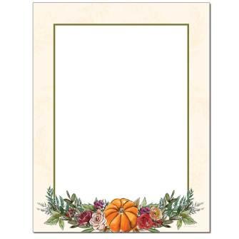 Elegant Pumpkin Letterhead - 100 pack