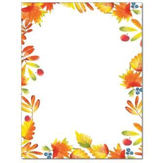 Autumn Foliage Letterhead - 25 pack