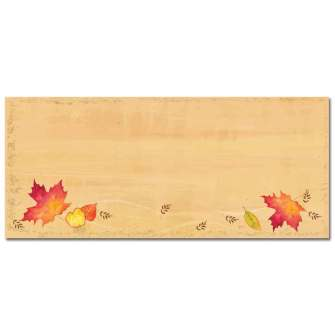 Falling Leaves Envelopes - 25 Pack