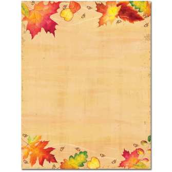 Falling Leaves Letterhead - 100 Pack