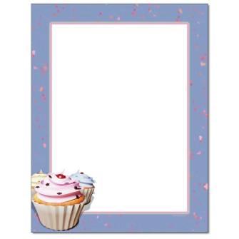 Fancy Cupcakes Letterhead - 100 pack