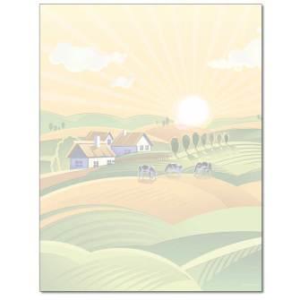 Farm Field Letterhead - 25 pack