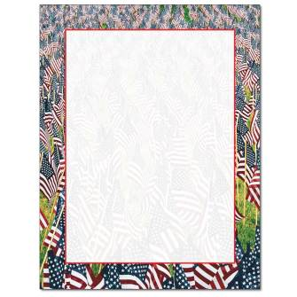 Field of Flags Letterhead - 25 pack