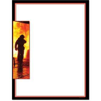 Fire Fighter Letterhead - 25 pack