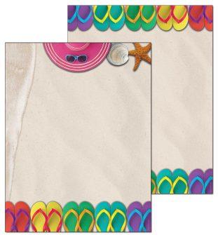 Flip Flops Letterhead - 100 pack