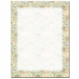 Floral Outlines Letterhead - 25 pack