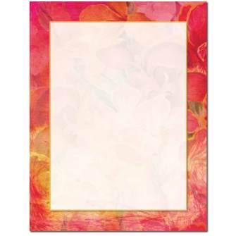 Floral Wallpaper Letterhead - 25 pack