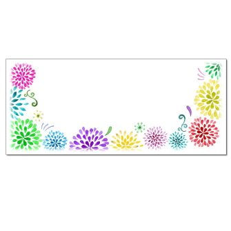 Flower Burst Envelopes