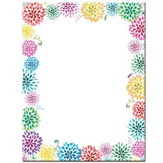 Flower Burst Letterhead - 100 pack