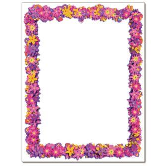 Flower Explosion Letterhead - 100 pack