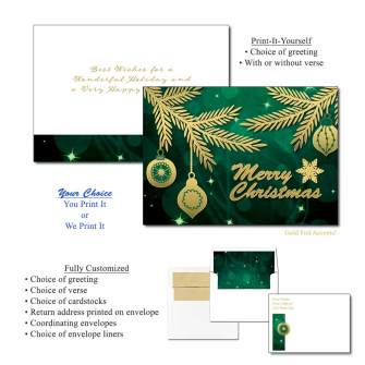 Foil Boughs Greeting Cards