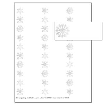 Foil Flakes Address Labels