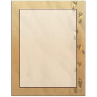 Footprints In The Sand Letterhead - 100 pack